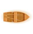 wooden boat top view vector image vector image