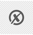 x cross mark in circle icon rejected sign vector image vector image