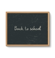 Blackboard in a wooden frame vector image