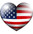 STARS and STRIPES HEART vector image