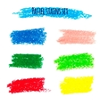 Oil pastel banners vector image