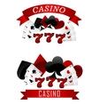 Gambling emblems or signs vector image