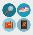 set travel vacation objects vector image