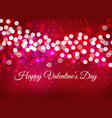valintines day background with bokeh lights vector image