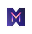 3d gradient logo the letter m vector image