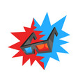 3d movie glasses vector image