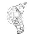 astronaut concept rendering 3d vector image