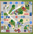 board game driving situations vector image vector image