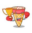 Boxing winner ice cream tone mascot cartoon