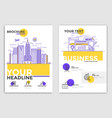 brochure design template - business vector image
