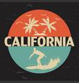 california circle print vector image vector image