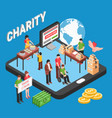 charity isometric design concept vector image vector image