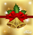 Christmas bells background vector image