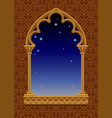 classic frame in form of gothic decorative window vector image vector image
