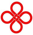 Cloverleaf Knot Good Luck Symbol vector image