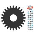 Cogwheel Icon With Free Bonus vector image vector image