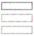 Colorful sketch banner frame design set vector image vector image
