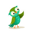 cute colorcful owlet pointing with wing sweet owl vector image vector image