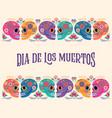 day dead dia de los muertos banner vector image vector image