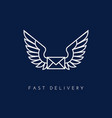 delivery logo vector image vector image