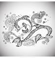 dolfin doodle sketch vector image vector image
