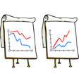 doodle growth chart vector image