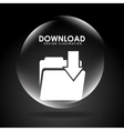 download button vector image vector image