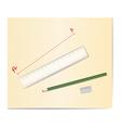drawing tools vector image