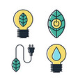 ecology and green energy icon flat design vector image