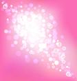 Elegant pink background with bokeh lights vector image