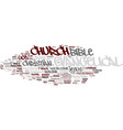 evangelical word cloud concept vector image vector image