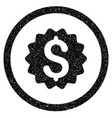 financial reward seal rounded icon rubber stamp vector image vector image
