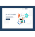 flat project management outsource web page vector image