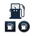 gas pump icons isolated vector image vector image