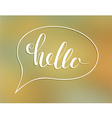 Hallo lettering vector image vector image