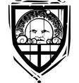 heraldic shield sun face vector image