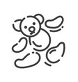 icon about sewing toys - teddy bear pieces vector image
