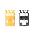 icons of castle towers vector image vector image