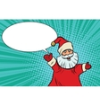 Joyful good pop art retro Santa Claus vector image vector image