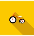 Kid bicycle icon flat style vector image vector image