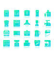 kitchen appliance simple gradient icons set vector image vector image