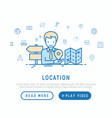 location concept man is looking for direction vector image vector image