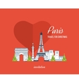 Merry Christmas greeting card design Paris vector image vector image