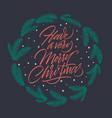 Merry christmas greeting card handwritten