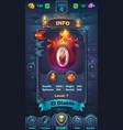 monster battle gui info playing field vector image vector image