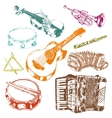 Musical instruments icons color set vector image vector image
