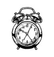old alarm clock vector image