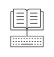 open book and keyboard icon e learning concept vector image