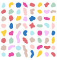 organic shapes color various blotch abstract vector image