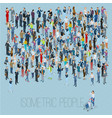 people crowd template vector image vector image